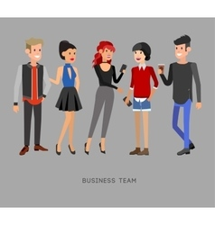 Detailed characters people business team vector