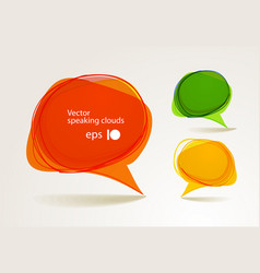 Abstract hand-drawn talking bubbles set vector image