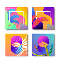 abstract modern memphis retro background set vector image