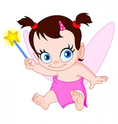 baby fairy vector image vector image
