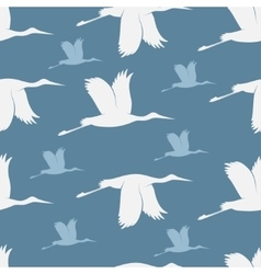 Baby shower stork pattern vector image vector image
