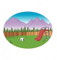 backyard background vector image vector image