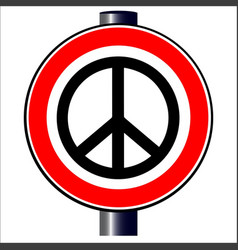 ban the bomb road sign vector image vector image