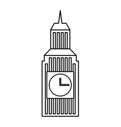 Big ben building england vector