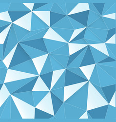 Blue 3d triangle pattern seamless design texture vector