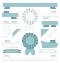 blue and white ribbons vector image
