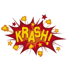 cartoon - krash vector image vector image