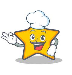 Chef star character cartoon style vector