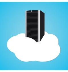 cloud server with clouds and database vector image vector image
