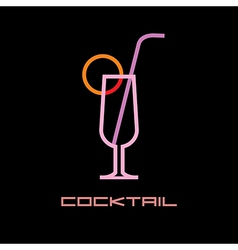 cocktail icon vector image vector image