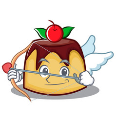 cupid pudding character cartoon style vector image