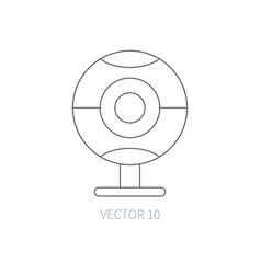 Flat line computer part icon webcam vector