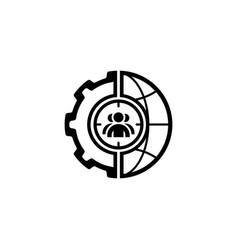 Global targeting icon flat design vector