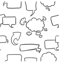 Hand draw of text balloon doodles vector