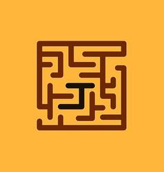 Maze game board game vector