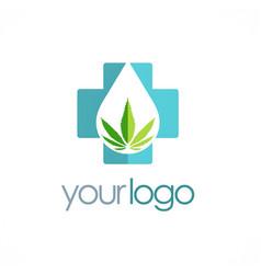 Medic cannabis leaf logo vector