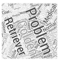 Medical problems of golden retrievers word cloud vector