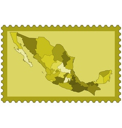 Mexico on stamp vector