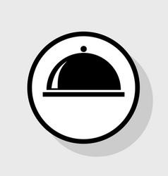 Server sign flat black icon vector