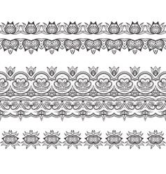 Set of filigree patterned brushes vector image vector image