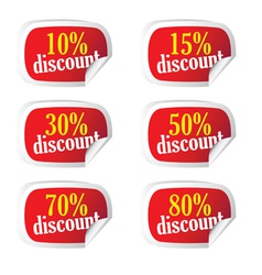 sticker with discount on it vector image vector image