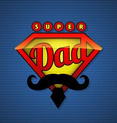 Super dad shield in pop art style vector