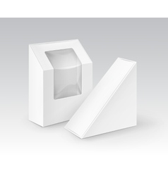 Set of white blank boxes packaging for gift vector