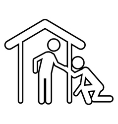 Isolated pictogram and house design vector