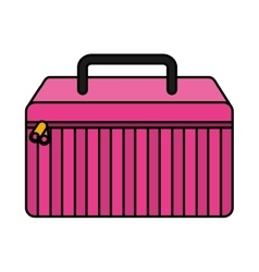 Make-up kit isolated icon vector