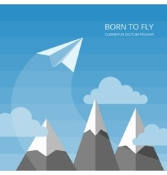 background with paper airplanes vector image