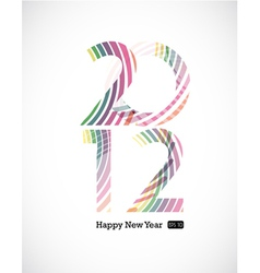 2012 and happy new year vector image