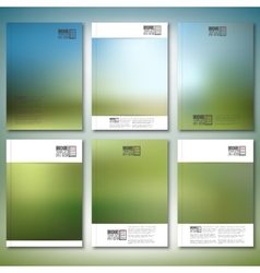 Abstract blurred background brochure flyer or vector