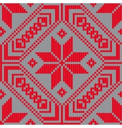 Belorussian ethnic ornament seamless pattern vector