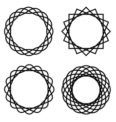 Wicker rings vector
