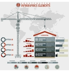 Construction infographics elements vector
