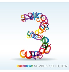 Rainbow number three vector
