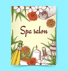 Sketch spa poster vector