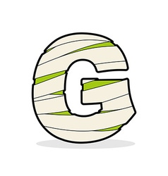 Letter g mummy typography icon in bandages vector