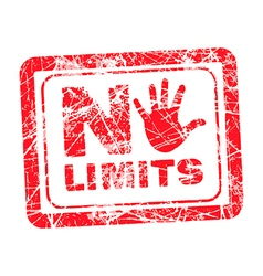 No limit red grunge rubber stamp vector
