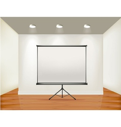 Empty presentation screen vector