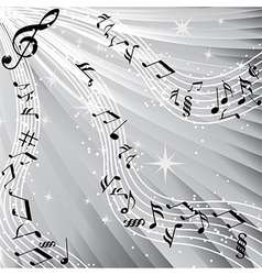 Music sound background vector