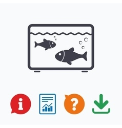 Aquarium sign icon fish in water symbol vector