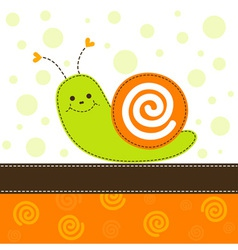 Snail greeting card vector