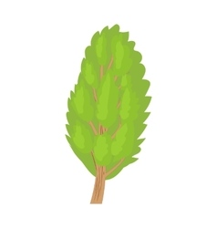 Poplar tree icon in cartoon style vector