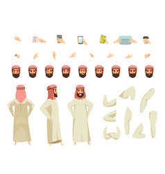 Arab man constructor set vector