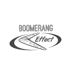 Boomerang effect logotype vector