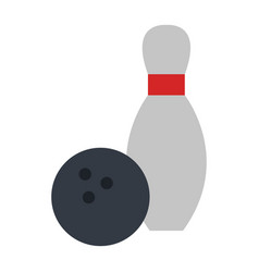 bowling pines isolated icon vector image vector image