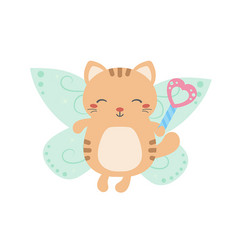 Cartoon fairy cat cartoon fairy cat vector