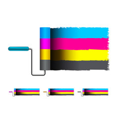 Cmyk concept with brushes vector