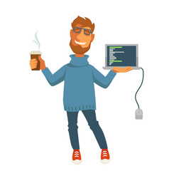 digital specialist or computer web programmer vector image